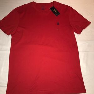 Men's Red Polo Ralph Lauren Shirt new with tag